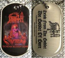 "DEATH DOG TAG ""SCREAM BLOODY GORE"" - NECKLACE - HUNDEMARKE - HALSKETTE"