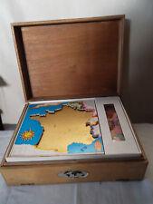 Puzzles ancien marque Vera La France, l'Europe, le Monde dans boite d'origine