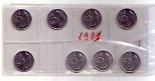 Repubblica Italiana  5 lire 1981 Delfino italma   FDC (8 pezzi)