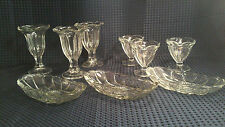 Vintage Tulip Ice Cream Sundae Glasses 3 Large 3 Small 3 Banana Boats
