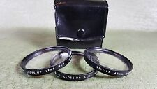 Vintage Vivitar 49mm Close Up Macro Lens Filter Set Made In Japan 1+2+4