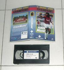 Vhs FORZA MILAN Il grande sport champions DOMOVIDEO 1988 Ruud Gullit
