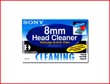 SONY V825CLD 8mm Camcorder Video Head Cleaning Cassette/Tape V8-25CLD Hi8 / NEW