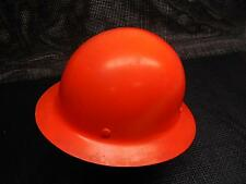 Old Vtg 1960s SKULLGARD PROTECTIVE HAT CAP Fiberglass Hard Coal Miners Orange