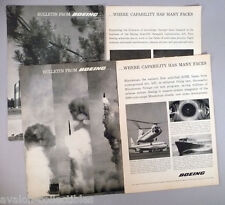 Boeing PRINT AD - 1960 - LOT of 2 ads ~ Scientific Research Labs, Minuteman ICBM