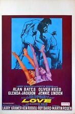 WOMEN IN LOVE 1969 Alan Bates, Oliver Reed, Glenda Jackson BELGIAN POSTER