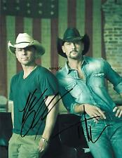 KENNY CHESNEY TIM MCGRAW REPRINT AUTOGRAPHED SIGNED PICTURE PHOTO COLLECTIBLE