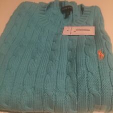 NWT POLO RALPH LAUREN LADIES CABLE KNIT SWEATER Large