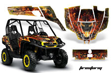 AMR Racing CanAm Commander Graphic Decal Kit UTV Accessories All Years FSTRM YLW
