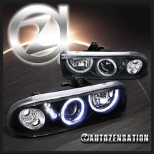1998-2004 Chevy S10 Blazer Halo LED Black Projector Headlights