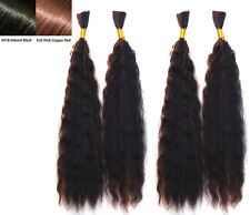 "2 Pack (4pcs) Deal -- 18"" Braiding Hair WET & WAVY Bulk hair Human Hair Quality"