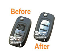 REPAIR SERVICE for Renault Clio mk5 Kangoo Megane Modus 3 button remote flip key