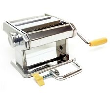 """7"""" Fresh Noodle Pasta Maker Stainless Spaghetti Dough Rolling Cutting Machine US"""