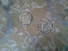 Your LUCKY GOOD LUCK POCKET FUN COIN PEWTER Flip Heads or Tails All New.