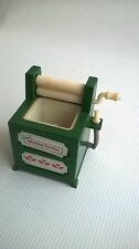 Sylvanian Families Washing Machine Mangle Clothes Vintage Epoch 1989 Green Spare