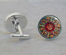 Mosque Brunei Islam Stained Glass Cuff Links