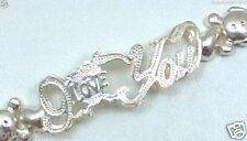 I Love You X O Heart Hugs Kisses XO Teddy Bear Link Bangle Bracelet
