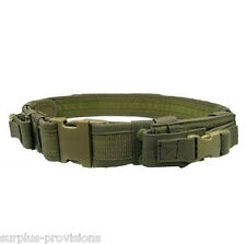 Condor Tactical Belt Includes 2 Pistol Mag Pouch Police / Combat Gear OD #TB