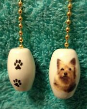 """One Yorkie Dog Fan Pull With Paw Prints On The Back 1"""""""