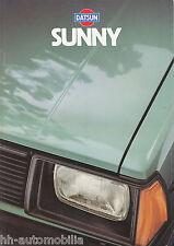 Datsun Nissan Sunny Prospekt 1980 B310 brochure Auto PKWs Japan Asien Automobil