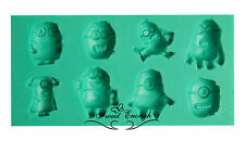 Minions Despicable Me Silicone Mould Mold Sugercraft Chocolate