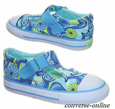 Baby Girl Kid CONVERSE All Star T STRAP PSYCHEDELIC Trainers Shoe Slip SIZE UK 7