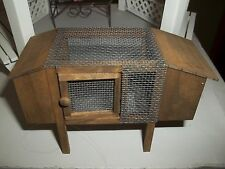 RABBIT HUTCH WITH 2 PET RABBITS  - DOLL HOUSE MINIATURE