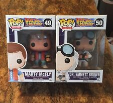 "Funko Pop~Marty McFly & Dr Emmett Brown~""Back To The Future""~Brand New"