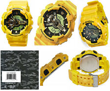 Casio G-Shock GA110CM-9A Yellow Metallic Camouflage X-Large Case Watch