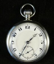 Thin Nickle Cased Swiss Made Top Wind Pocket Watch by Buren Watch Company.