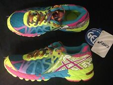 Asics Gel-Noosa Tri 9 Running Sneakers Womens 7 Trainers Shoes Purple Blue Lime