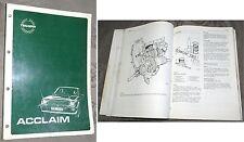 Triumph Acclaim Reparaturanleitung Werkstatthandbuch deutsch original AKM5085