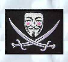 V FOR VENDETTA ANONYMOUS CALICO JACK HACKER SWAT VELCRO® BRAND FASTENER PATCH