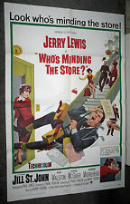 WHO'S MINDING THE STORE orig1963 onesheet movie poster JERRY LEWIS/JILL ST. JOHN