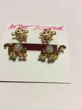 $40 Betsey Johnson Minis Monkey Earrings Ab 181