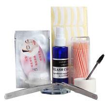 10 Makeup Eyelash Extension Kit Tweezers Eyelash Cleaner Remover Octagon Holder