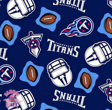 114123034- New Tennessee Titans NFL Football Polyester Fleece Fabric By the Yard