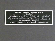 Core Four Jeter Rivera Autograph Nameplate New York Yankees Jersey Bat Ball