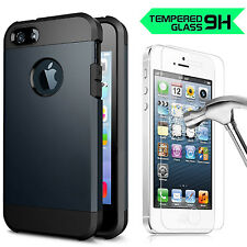AU Heavy Duty MetalSlate Protective Hybrid Armor case cover for iPhone 5S 5 5G