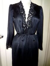 Vintage Olga Silky  Nylon & Lace Full Sweep Robe Nightgown