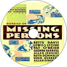 Bureau of Missing Persons DVD Pat O'Brien Lewis Stone Bette Davis 1933 rare