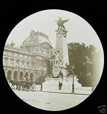 Glass Magic lantern slide STATUE OF GAMBETTA C1890 PARIS FRANCE
