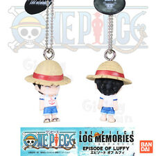GENUINE BANDAI ONE PIECE LOG MEMORIES Monkey D Luffy Figure Key Chain Ring JAPAN