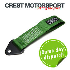 TRS Fijo Remolque Ojo strap/loop Verde (MSA cumple) race/rally/competition coche