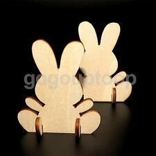 10 Free Standing MDF Wooden Rabbit Bunny Shape Easter Craft Unpainted 70mm