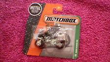 Matchbox (UK Card) - 2016 - #120 BMW R1200 GS Motorcycle - Khaki, Chrome & Black