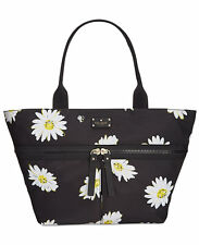 New Kate Spade Clark Court Arabella black  large tote bag Daisy Daisies