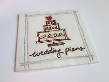 Embroidered Wedding Plans Scrap Book Keepsake Memoribilia Motif Patch #12D217