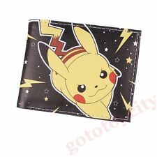 Cosplay Pokemon Pikachu  Two-Fold Bifold Purse Wallet Coin Leather New