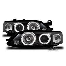 AuCo LED Angel Eyes Scheinwerfer Set Schwarz für Opel Vectra B 1995 - 1999